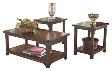 Coffee table sets are available in array of lovely finishes like mahogany, cherry or espresso. Ashley Furniture Signature Design - Murphy Coffee Table and End Tables - Cocktail Height - 3 ...