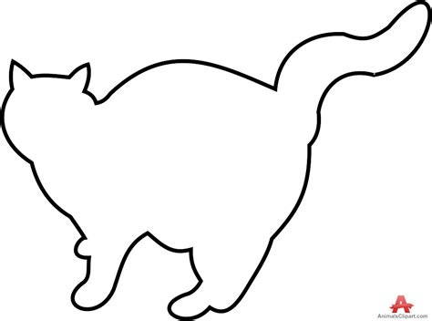 cat clipart cat outline pencil   color cat clipart