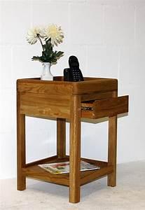 Beistelltisch Eiche Geölt : telefontisch 40x60x40cm 1 schublade wildeiche massiv natur ge lt ~ Buech-reservation.com Haus und Dekorationen