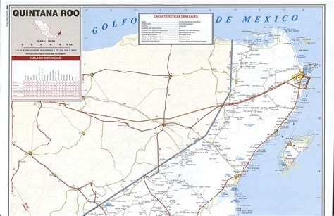 quintana roo state road mapfree maps  central america