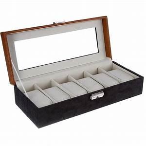 Boite A Montre Homme : coffret de rangement 6 montres bo tes bijoux espace bijoux ~ Teatrodelosmanantiales.com Idées de Décoration