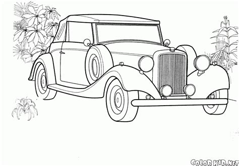 coloring page packard twin