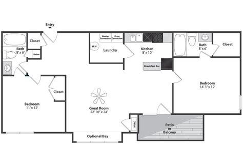 Split Bedroom Floor Plan by Two Bedroom Split Floor Plan Napcincinnati