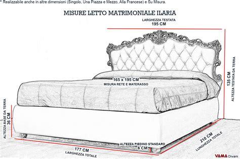 Misure Standard Divano Letto Matrimoniale : Letto Barocco In Stile Veneziano Con Contenitore Portaoggetti