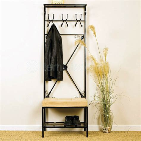 Entryway Benches With Storage And Coat Rack - 12 hook metal hat bag coat rack stand entryway tree