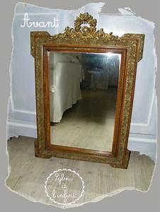 Relookage de Cadre de Miroir Ancien Esprit Gustavien & son Tuto Sylvie à l'Infini