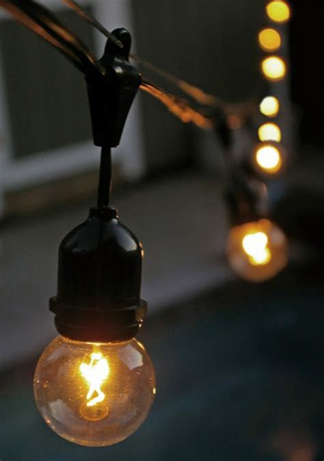 1000 ideas about outdoor globe string lights on