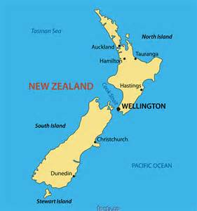 New Zealand Map with Cities
