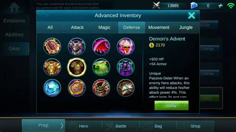 mobile legends items mobile legends defense items guide