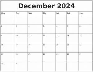 December 2024 Print Online Calendar