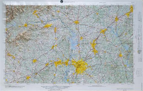 raised relief map  charlotte north carolina usgs