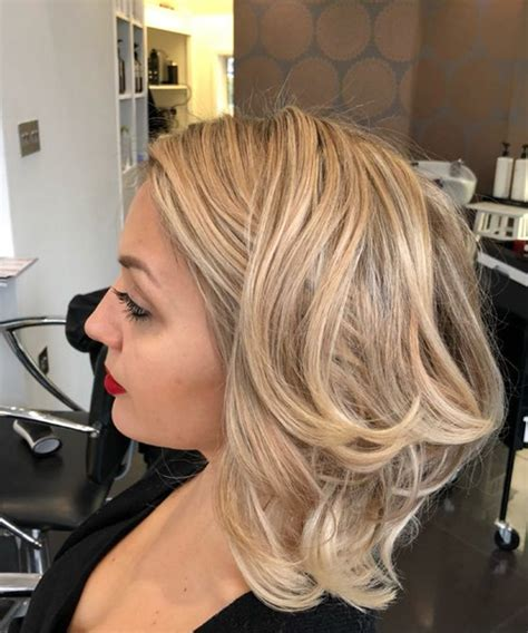 lovely layered balayage medium hairstyles 2018 for