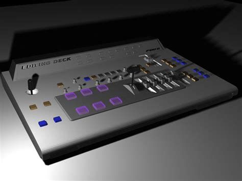 space uid 2652 mixing console desk max 3ds max software technology objects