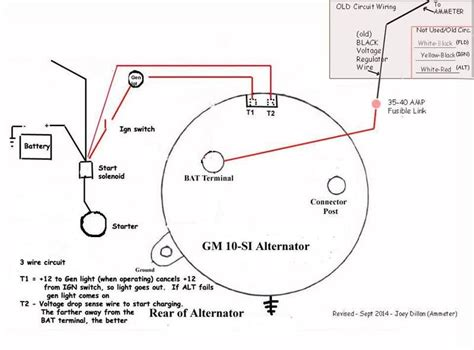 3 Wire Alternator Wiring Diagram Rgulator by Technical Alternator Wiring The H A M B