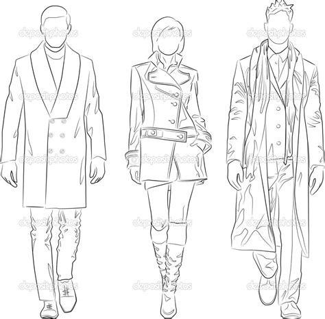 vector people outline images business people
