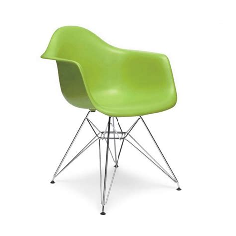 charles eames style dar arm chair green