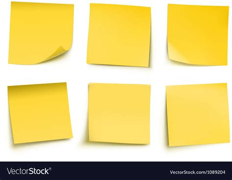 post it post it notes royalty free vector image vectorstock