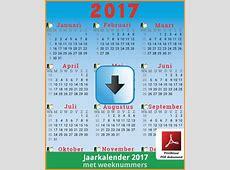 Kalenders 2017 Gratis Downloaden en Printen ? Feestdagen