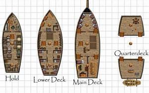 Pirate Ship Deck Plans - imgtagram   Ships   Pinterest ...