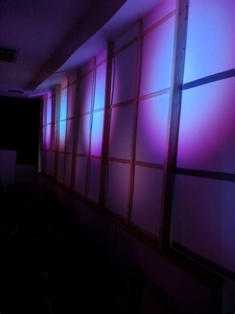 silhouette grid wall church stage design ideas