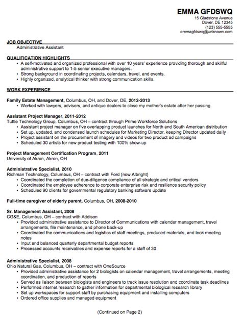 Chronological Resume Office Assistant by Chronological Sle Resume Administrative Assistant P1