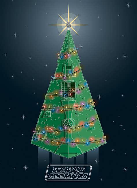 star wars christmas card star destroyer christmas tree