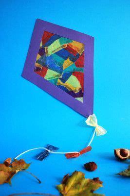drachen aus schnipseltechnik kita ideen basteln herbst basteln mit kleinkindern herbst und