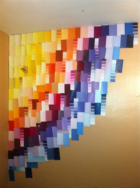 paint swatches wall crafting crafts