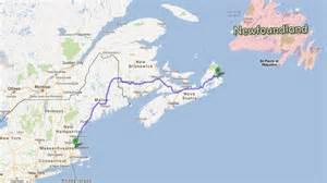 Ferry to Newfoundland From Nova Scotia Map