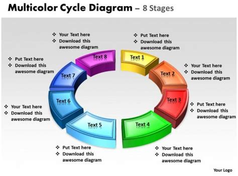 business powerpoint templates  animated multicolor cycle