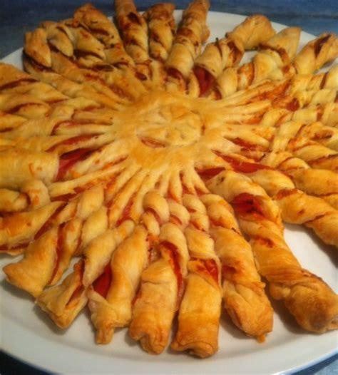 recette apero avec pate feuilletee feuillet 233 soleil jambon emmental la cuisine d aur 233 lie