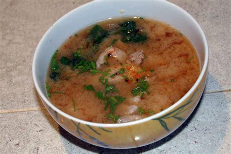 soupe miso au porc et 233 pinards la cuisine japonaise