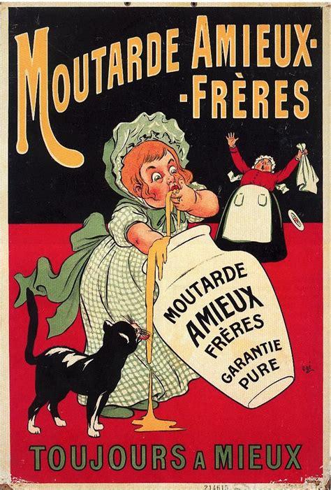 affiche cuisine vintage moutarde amieux affiche litho 1900 food posters