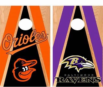 Cornhole Baltimore Orioles Ravens Boards Hole Corn