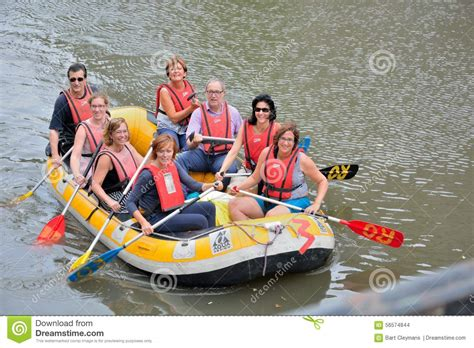 Boat Rafting by Rafting Smiling Happy On A Rubber Boat Rafting On