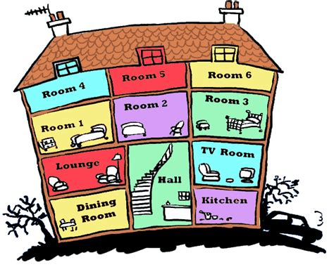 library  rooms   house vector  png files clipart