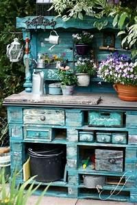 Gartenregal Selber Bauen : gartenm bel aus paletten selber bauen und den au enbereich ausstatten ~ Orissabook.com Haus und Dekorationen