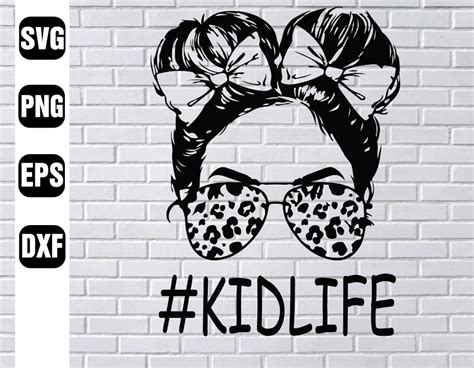 Are you searching for leopard print png images or vector? Kid life messy buns, tshirt, leopard print, cheetah print ...