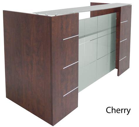 front desk reception furniture glass front reception desk in 5 colors
