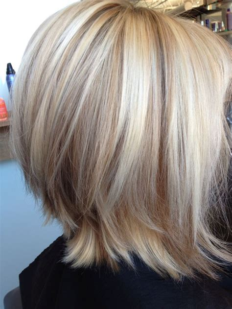 blonde bob  lowlights style pinterest bobs
