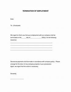 best photos of printable termination form free printable With termination of employment form template