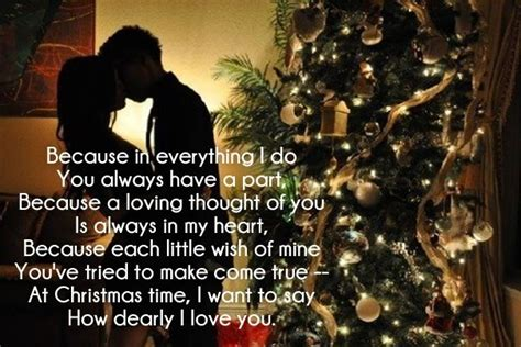 merry christmas love poems     cute love