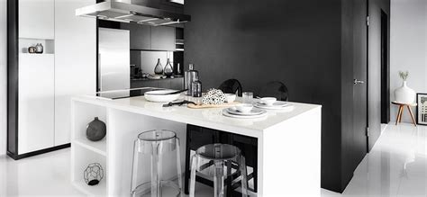 inspired   chic black  white hdb flat