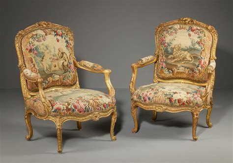 Pair Of Louis Xv Gilt-wood Armchairs From The Waterford