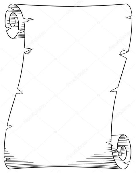 pergamena clipart vecchio rotolo di pergamena vettoriali stock