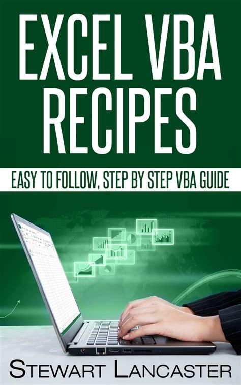 excel vba recipes by stewart lancaster