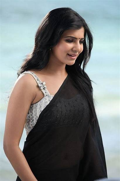 Samantha Actress Saree Ruth Prabhu Stills Wallpapers