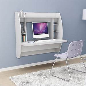 NEW PREPAC WHITE FLOATING WALL MOUNT WRITING COMPUTER ...