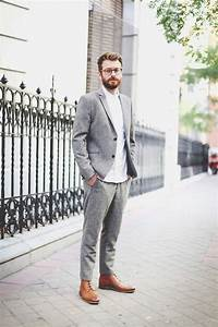 grey mens pants and light brown shoes | Grey Pants ...