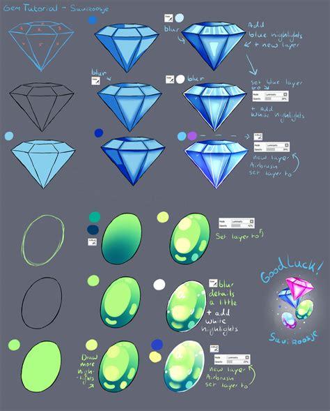 Step by Step - Diamond Gem Stone TUTORIAL by Saviroosje on